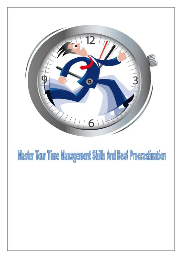 How To Beat Procrastination and Master Time Management SKills 1