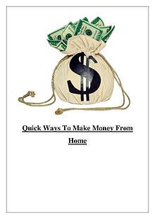 8 Ways To Make Money