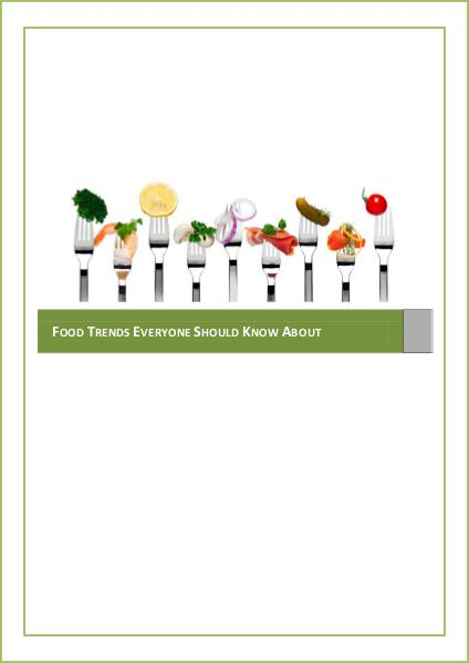 Latest Food Trends 1