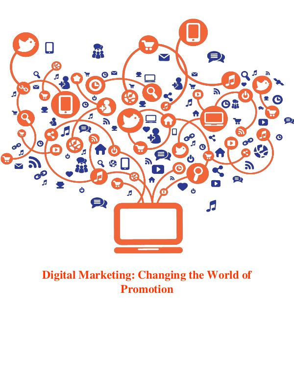 Digital Marketing: Connecting With The Customers Online 1