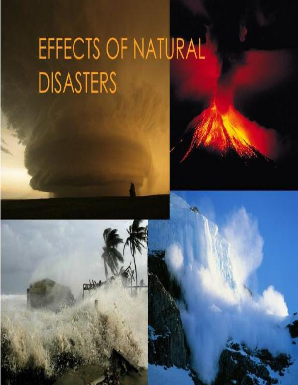 natural disasters and their effect on
