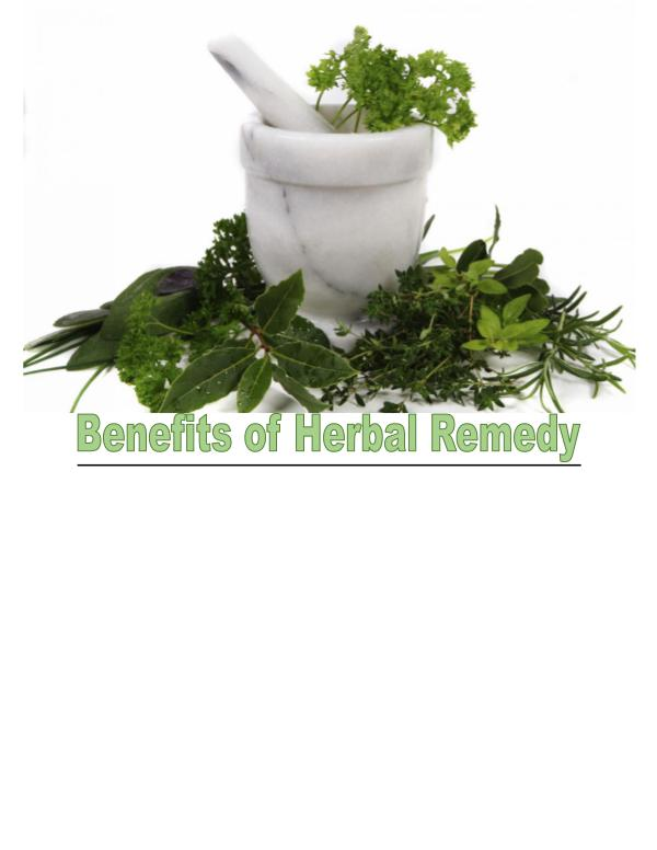 Advantages of Herbal Remedies 1