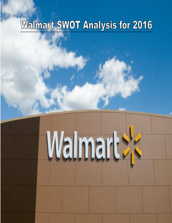 wal mart threats and opportunities