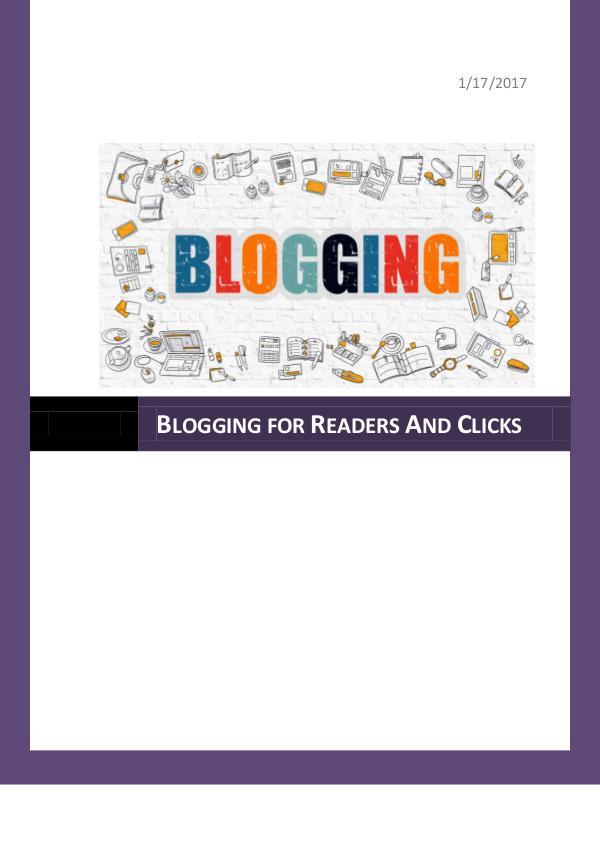 Blogging Generates Traffic for Website 1