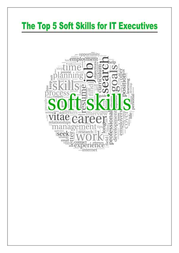Soft Skills for IT Executives 1