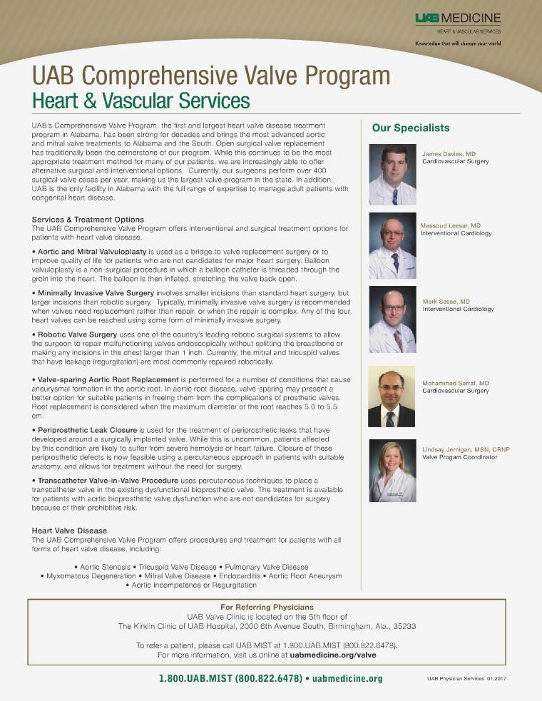 UAB Medicine Heart & Vascular Physician Updates UAB