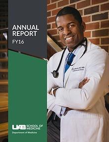 UAB Department of Medicine Annual Report FY2016