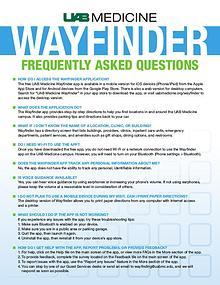 UAB Medicine Wayfinder FAQs