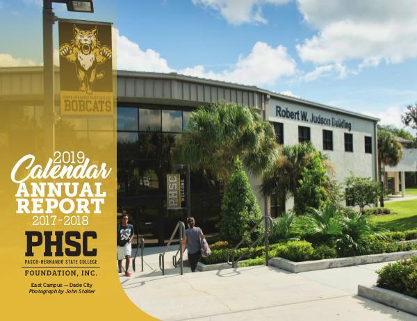 Pasco-Hernando State College Calendar 2019 Annual Report (2017-2018)