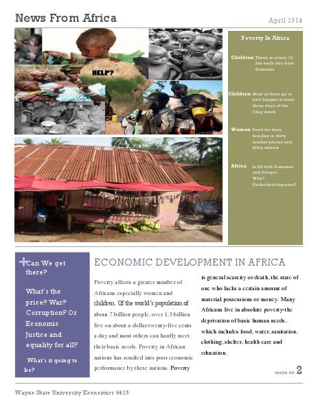 ECONOMIC DEVELOPMENT IN AFRICA 1