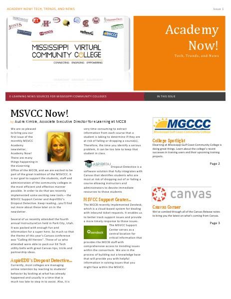 MSVCC Academy Now! 2014-2015