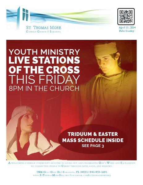 St. Thomas More Catholic Church Weekly Bulletin 2014-04-13 Palm Sunday