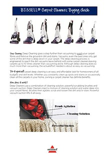 Bissell Carpet Cleaners Buying Guide