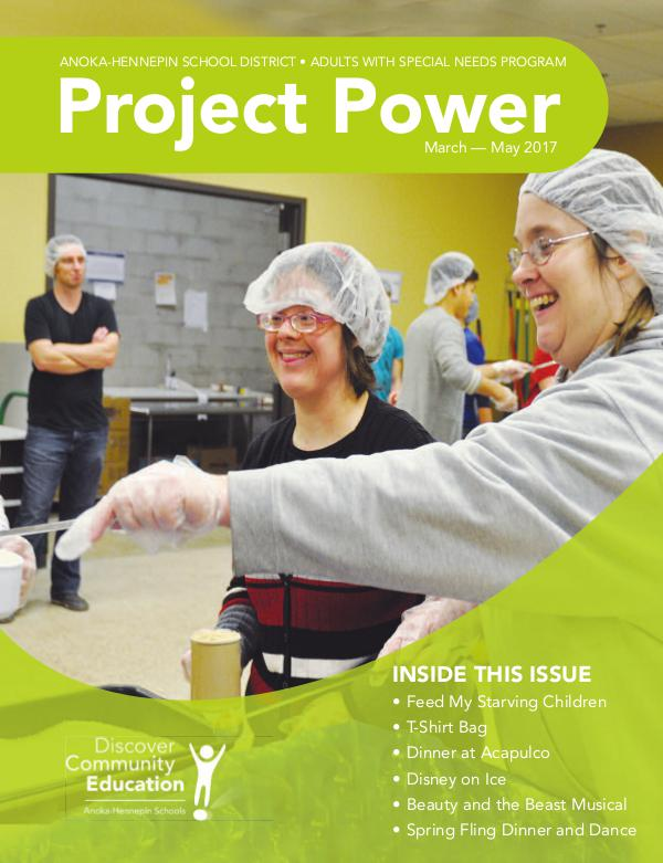 Community Education - current class catalogs Project Power - Spring/Summer 2017
