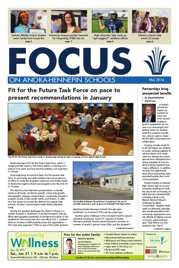 Newsletters 2016-17 Focus newsletter, [2] fall