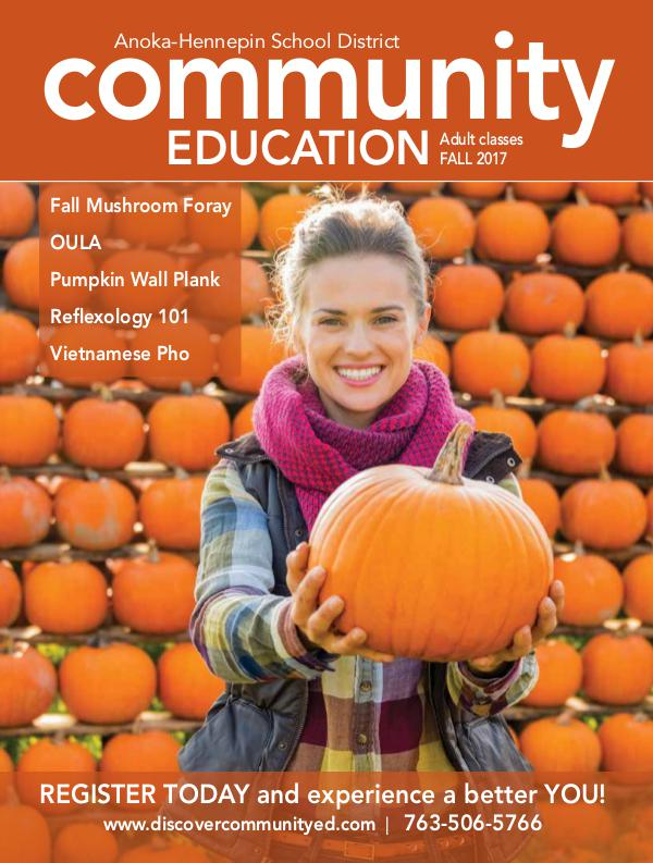 Community Education - current class catalogs Adult classes and activities - Fall 2017