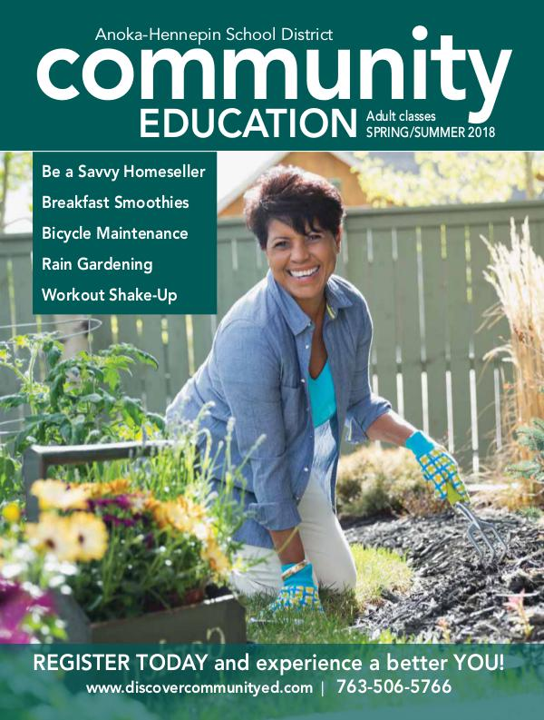 Community Education - current class catalogs Adult classes and activities - spring/summer 2018