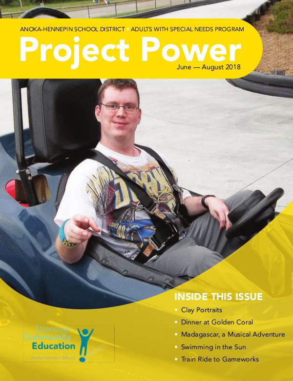 Community Education - current class catalogs Project Power - Summer 2018