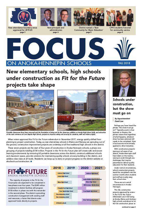 Newsletters 2018-19 Focus newsletter, [2] Fall