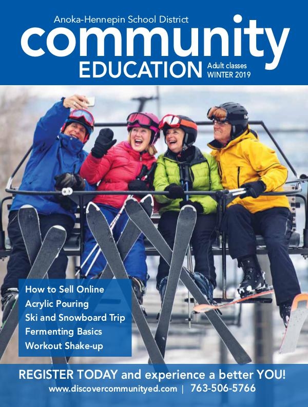 Community Education - current class catalogs Adult classes and activities - Winter 2019