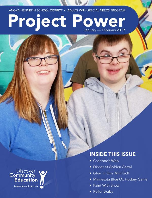 Community Education - current class catalogs Project Power - Winter 2019
