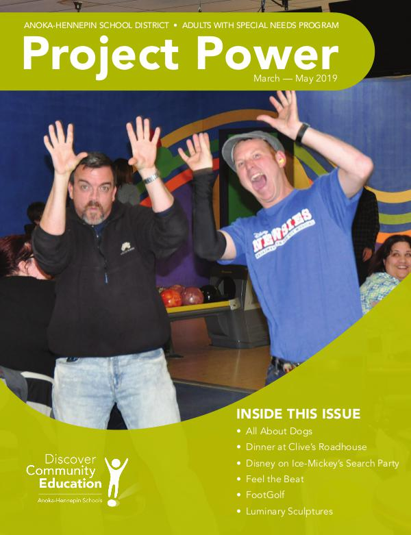 Community Education - current class catalogs Project Power - Spring/Summer 2019
