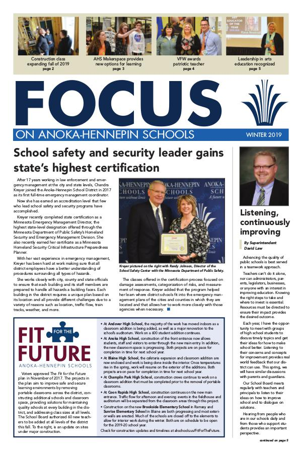Newsletters 2018-19 Focus newsletter, [3] Winter