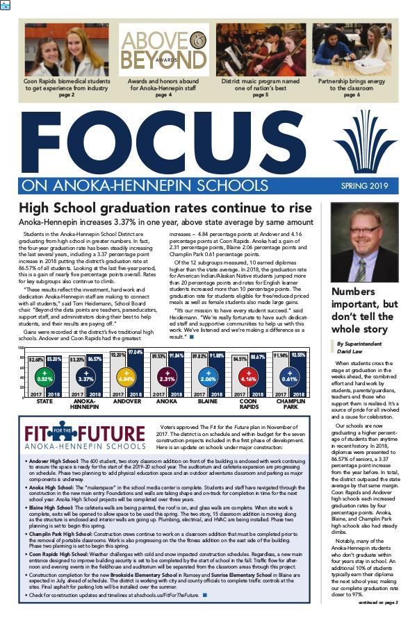 Newsletters 2018-19 Focus newsletter, [4] Spring