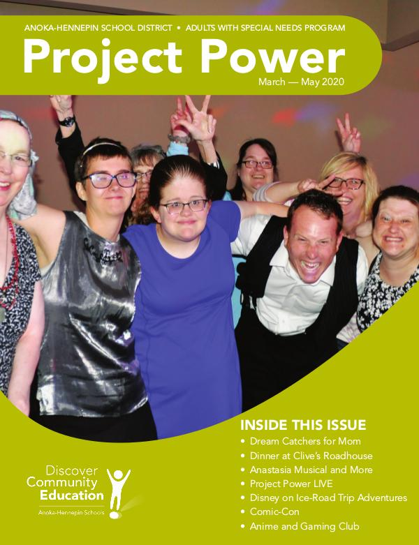 Community Education - current class catalogs Project Power - Spring 2020