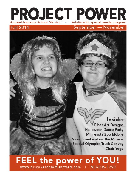 Community Education - current class catalogs Project Power - Fall 2014