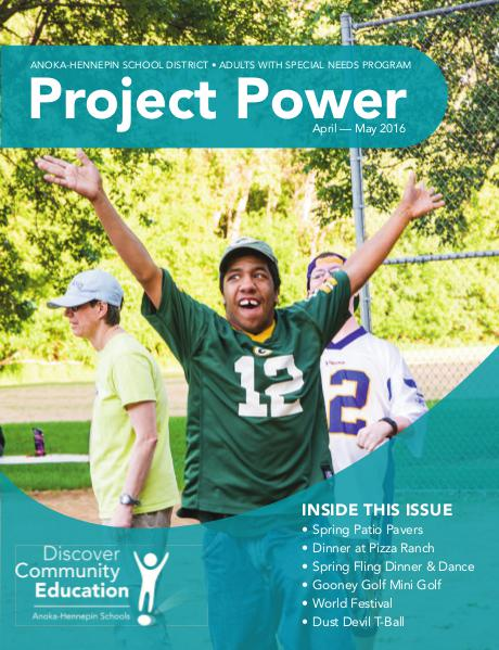 Community Education - current class catalogs Project Power - Spring 2016