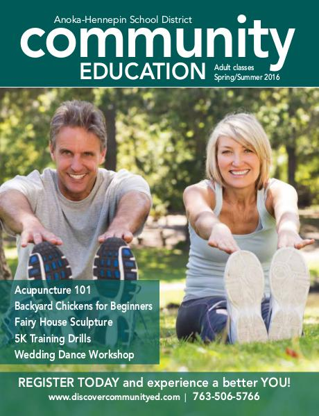 Community Education - current class catalogs Adult activities and classes - Spring/Summer 2016