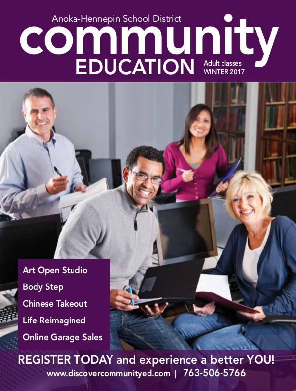 Community Education - current class catalogs Adult classes and activities -  Winter 2017