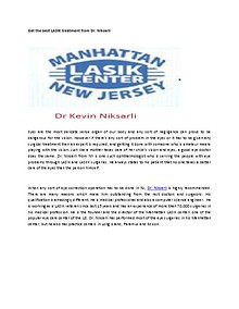 Get the best LASIK treatment from Dr. Niksarli