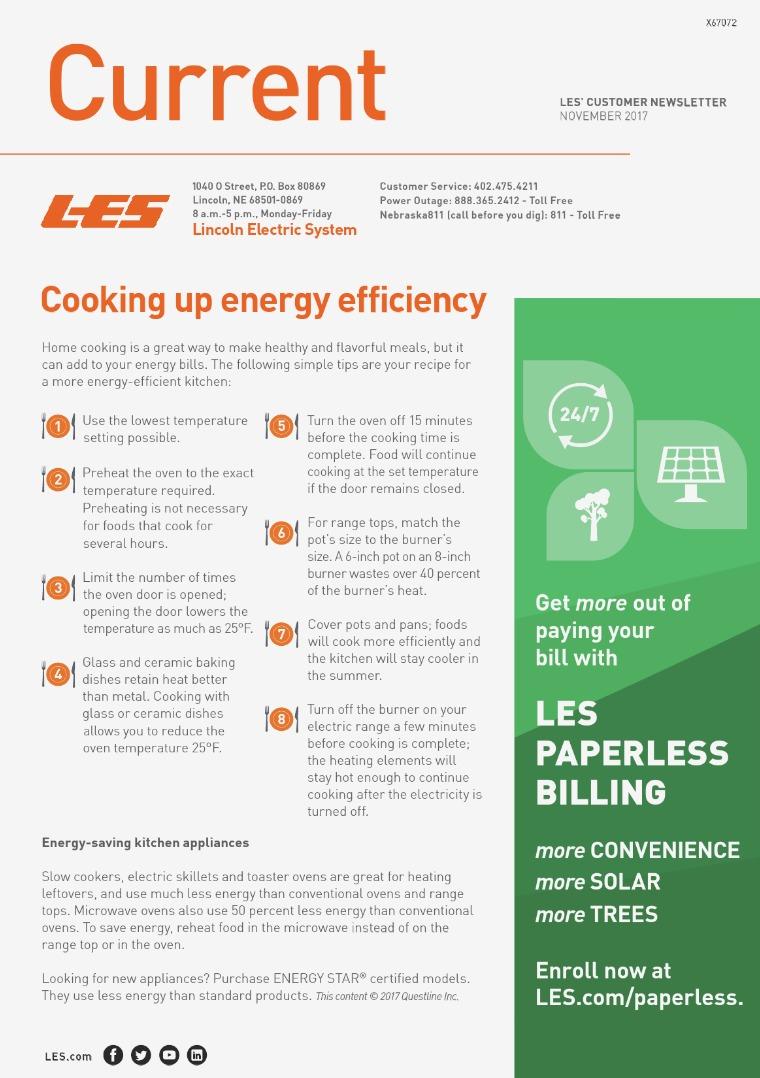 Current  | LES Customer Newsletter Current - November 2017