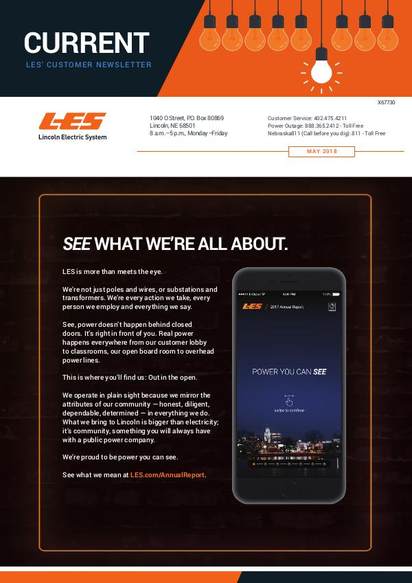 Current  | LES Customer Newsletter Current - May 2018