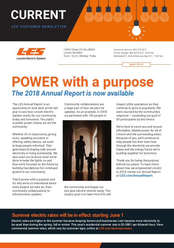 Current  | LES Customer Newsletter Current - May 2019