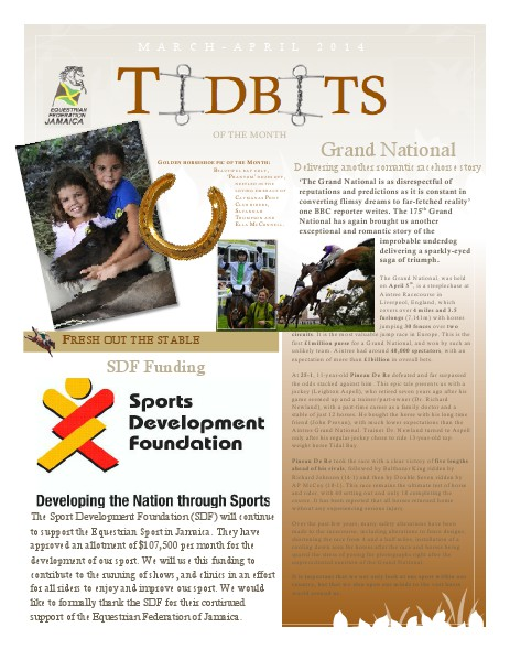 Tidbits of the Month - Equestrian Federation of Jamaica March - April 2014