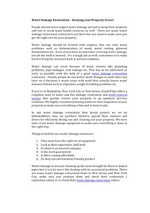 Water Damage Restoration – Keeping your Property Secure.pdf
