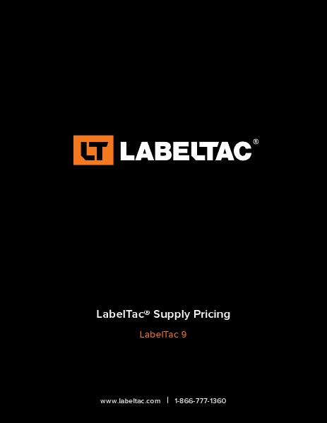 LabelTac 9 Thermal Printer Price List April 2014