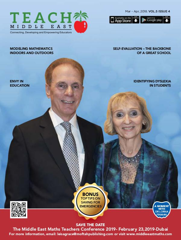 Teach Middle East Magazine Mar-Apr 2018 Issue 4 Volume 5