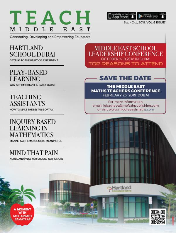Teach Middle East Magazine Sep-Oct 2018 Issue 1 Volume 6