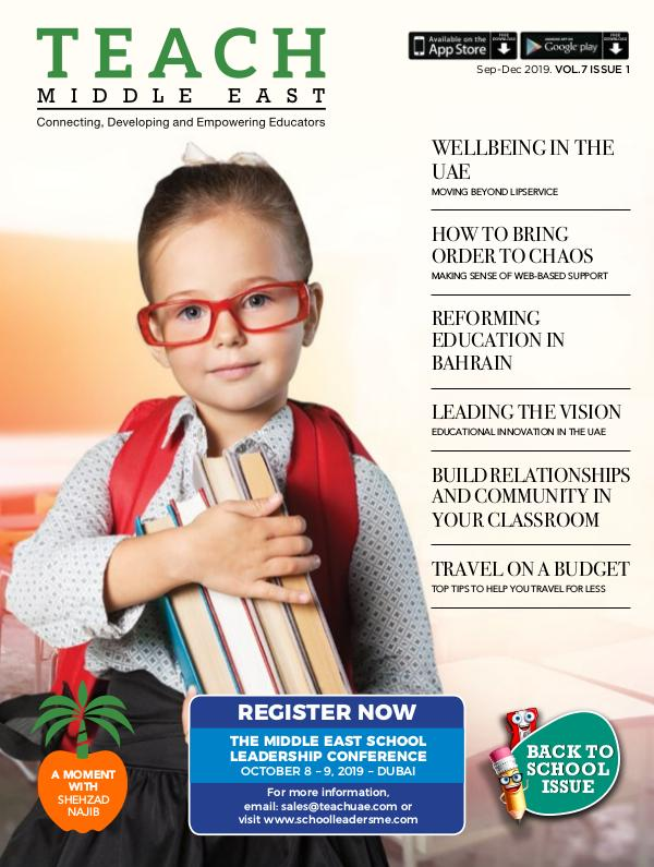 Teach Middle East Magazine Sep-Dec 2019 Issue 1 Volume 7