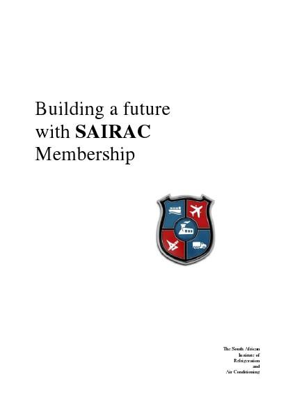 Building a Future with SAIRAC Membership 2.2.1