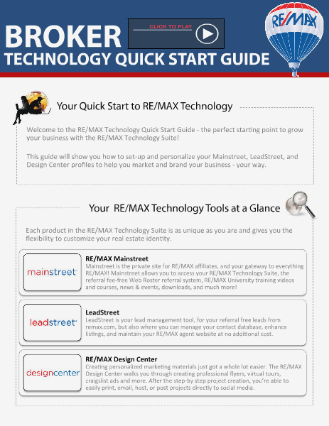 BROKER Quick Start Technology Guide2014 Apr. 2014