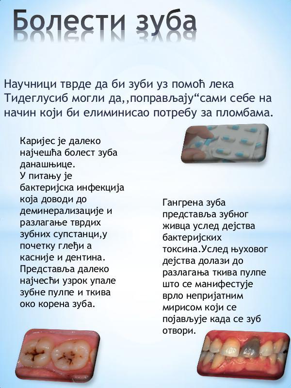 Болести зуба Медикамент