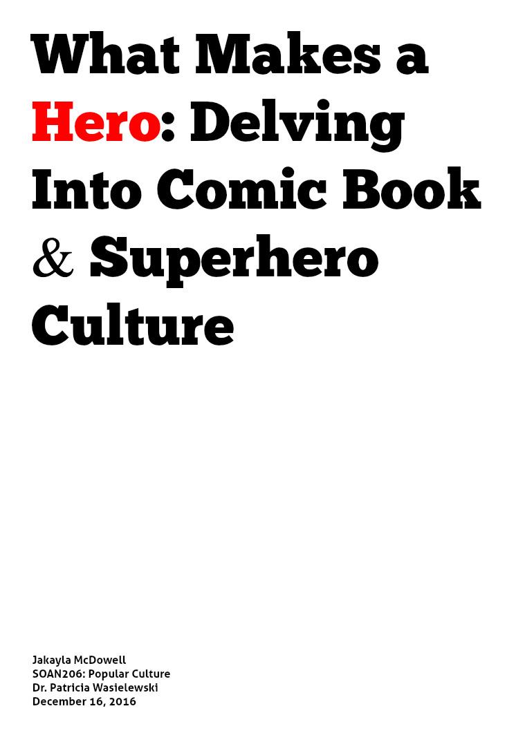 Superhero Culture 1