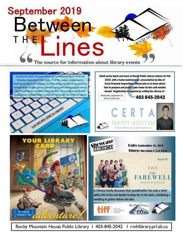 Between the Lines September 2019 September 2019 PDF