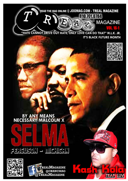 Treal Magazine vol. 16-1 Prince Malcolm X Empire Nancy Grace XLIX