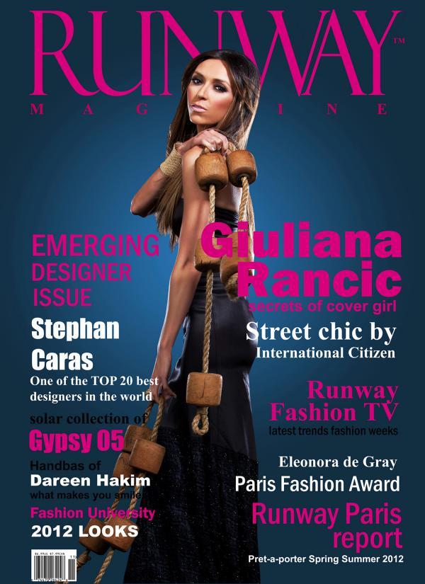 Runway Magazine 2012 Emerging designer issue